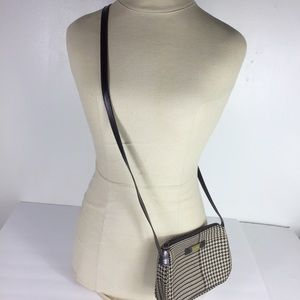 Ralph Lauren Brown Checked Mini Crossbody Bag